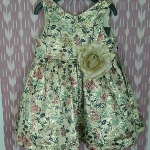 NWT Pippa & Julie Metallic Floral Dress w/Bloomers